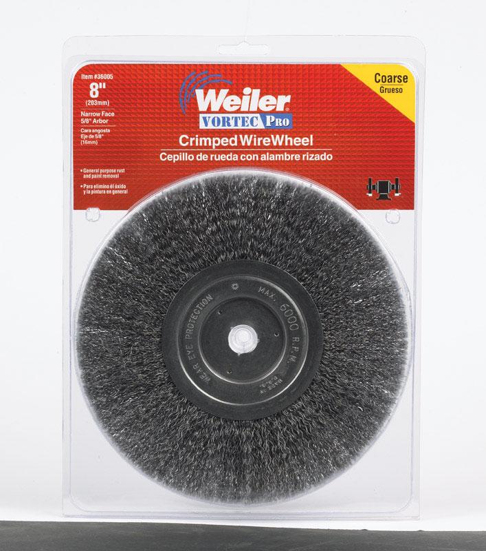 Weiler  Vortec Pro  1 in Knotted  Wire Wheel Brush  Steel  22000 rpm 1 pc.